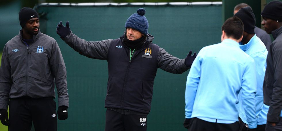 Mancini prueba con Nasri, Silva, Agüero y Dzeko en ataque