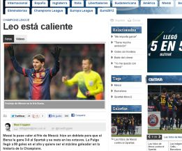 La prensa mundial elige a Leo Messi 'recordman' mundial