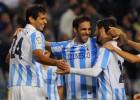 El Málaga homenajea a Viberti sacando los colores al Valencia