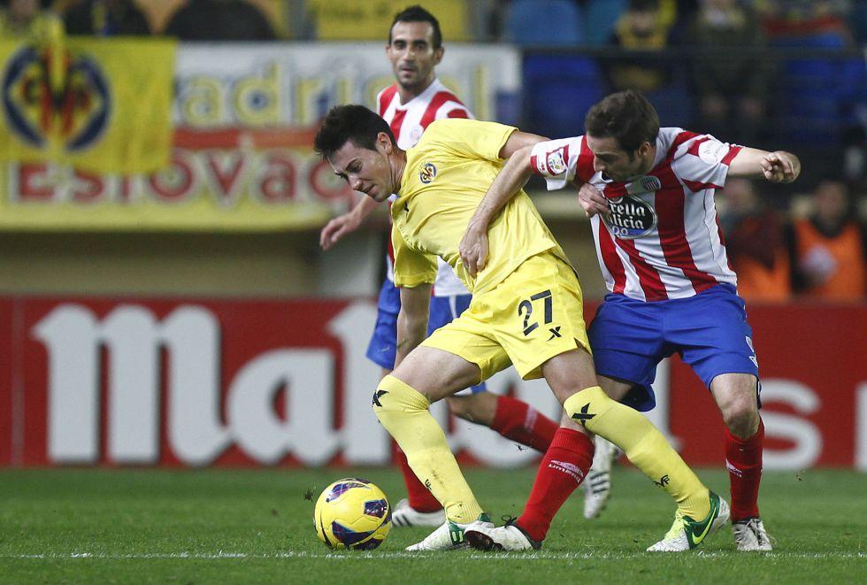Un Villarreal irregular empató ante un Lugo que se creció