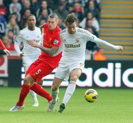 El Liverpool cede un empate ante el 'Spanish' Swansea