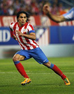 Diego Costa y Falcao, ataque del Atlético ante el Sevilla