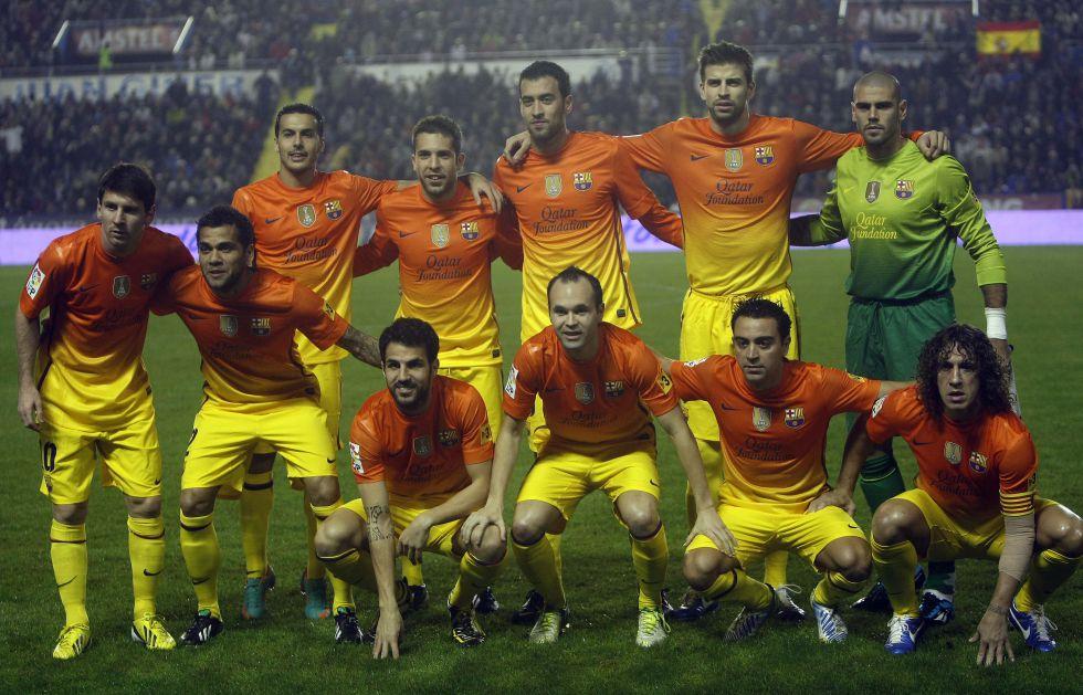 Vilanova hace real el sueño de alinear juntos a once canteranos
