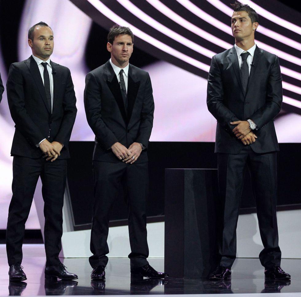 Cristiano, Iniesta y Messi son los finalistas del Balón de Oro 2012