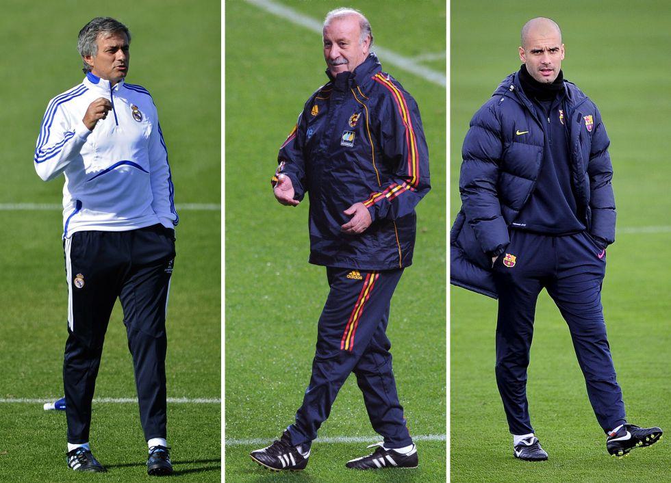 Candidatos a entrenador del año: Del Bosque, Guardiola y Mou