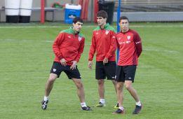 Iraola deja el entrenamiento y es duda para el Camp Nou