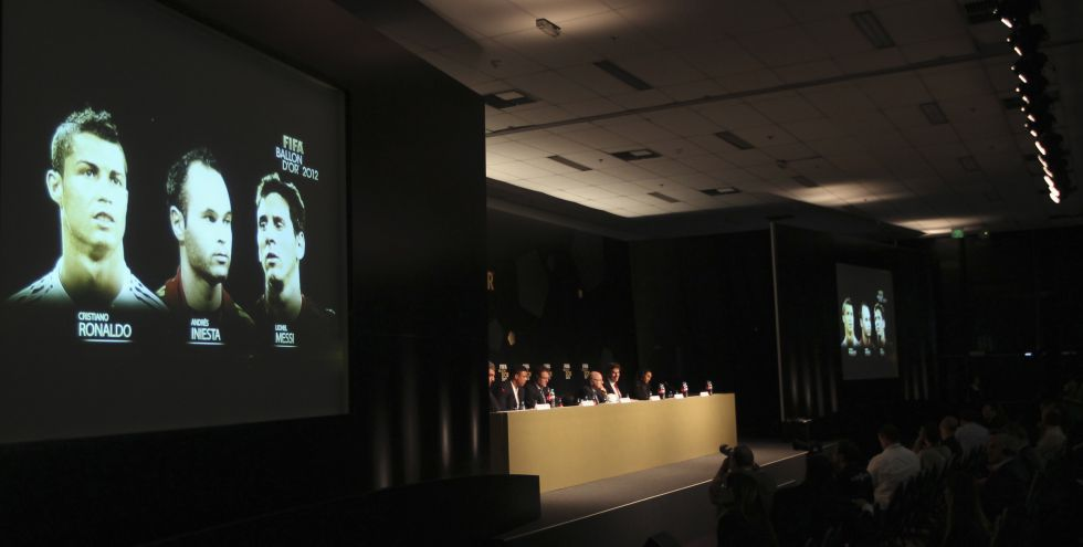 Balón de Oro: Cristiano Ronaldo, Andrés Iniesta y Leo Messi