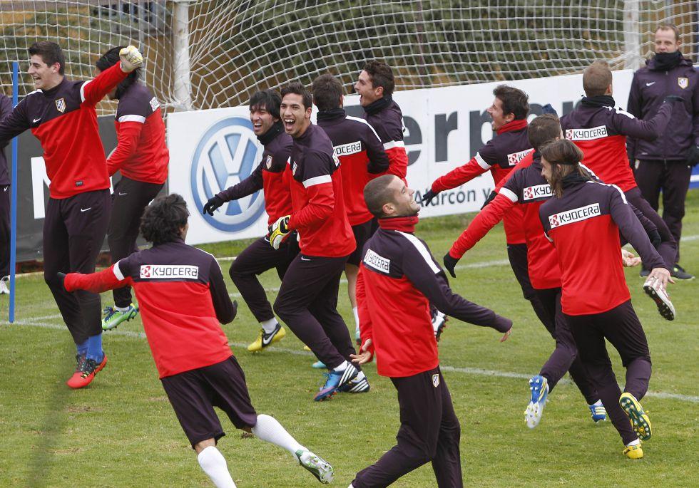 El Cholo Simeone entrenará hoy en el Calderón a puerta abierta