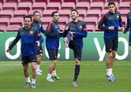Iniesta y Alba, ausencias en el entrenamiento del Barcelona