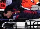 Messi dio el susto: contusión ósea en la rodilla izquierda