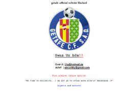Piratas informáticos atacan la página web oficial del Getafe
