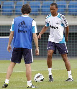 Fabinho ha entrenado hoy con el primer equipo en Valdebebas