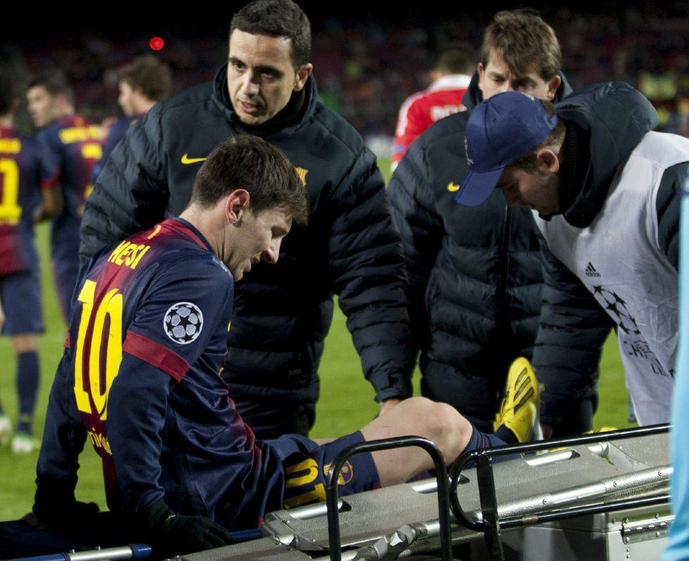 Messi se ejercita en el gimnasio en el día libre del equipo