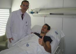 Stuani, operado con éxito de su fractura en el arco cigomático