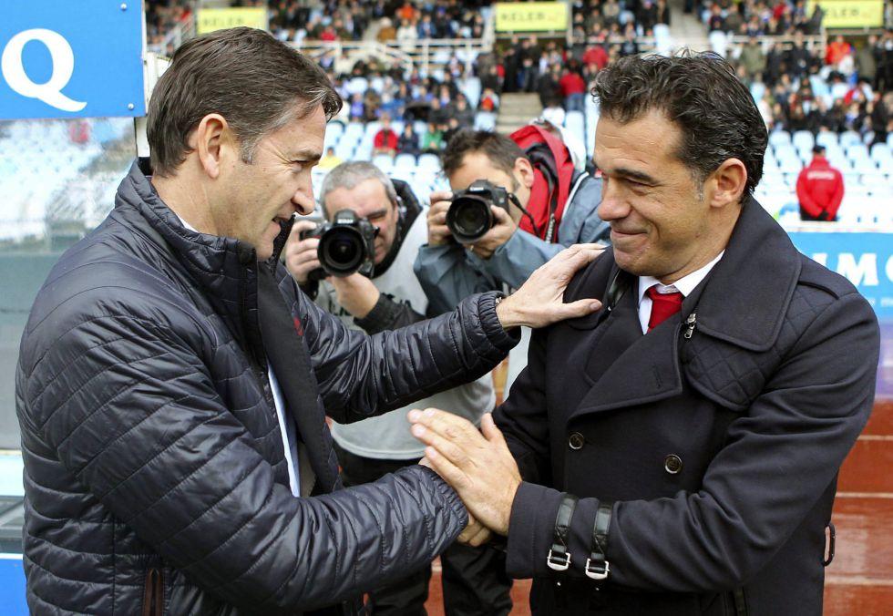 Montanier y Luis García, satisfechos con el empate