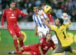 Real Sociedad y Getafe dejaron los goles para el postre