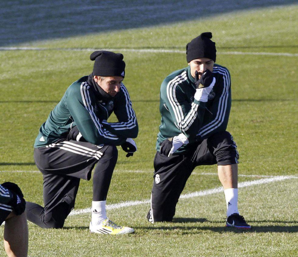 El Madrid prepara la Copa con Coentrao al ritmo del grupo