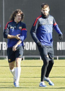 Puyol, que volvió a entrenar hoy, y Messi, en la lista para Córdoba