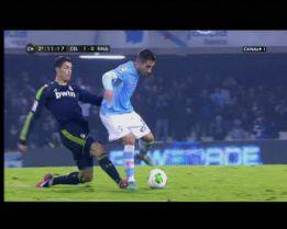 El Celta pidió la roja a Cristiano y el Madrid, penalti a Callejón