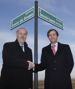 Una Avenida para España y glorieta para Vicente del Bosque