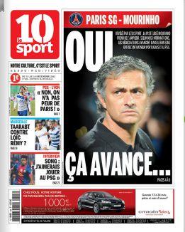 Mourinho se reunió con el PSG en noviembre, según Le 10 Sport