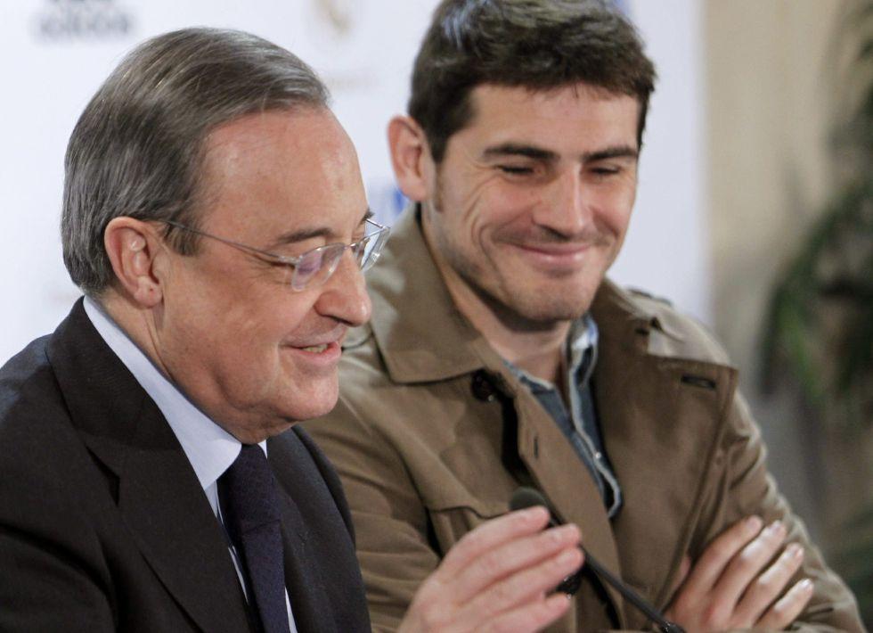 """Florentino Pérez: """"Iker Casillas es un capitán de leyenda"""""""