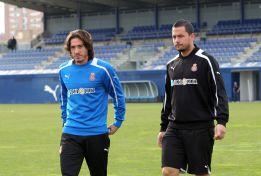 Cristian Álvarez no supera su distensión y trabaja al margen