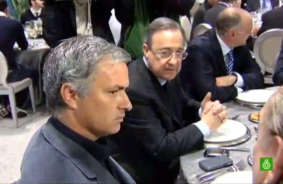 Florentino y Mou comparten mesa en la comida de Navidad