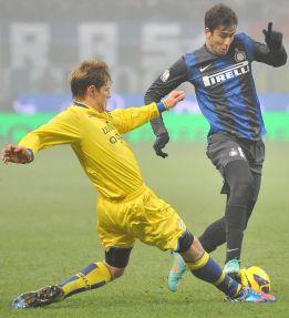 El Inter supera los octavos de Copa tras imponerse al Verona