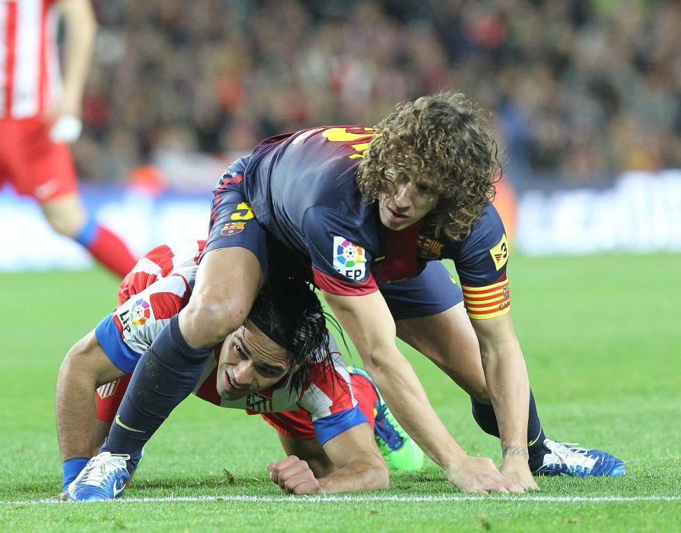 """El Barcelona ganó al Atlético pese al """"indomable Falcao"""""""
