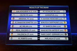 Real Madrid-United, Milán-Barça Valencia-PSG y Oporto-Málaga