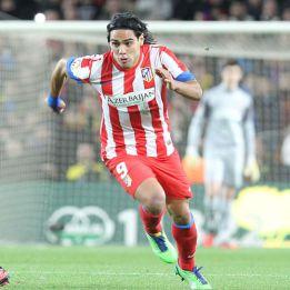 Costa y Falcao, ataque del Atlético ante el Celta
