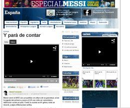 La prensa de Argentina celebra los 91 goles de Messi en 2012