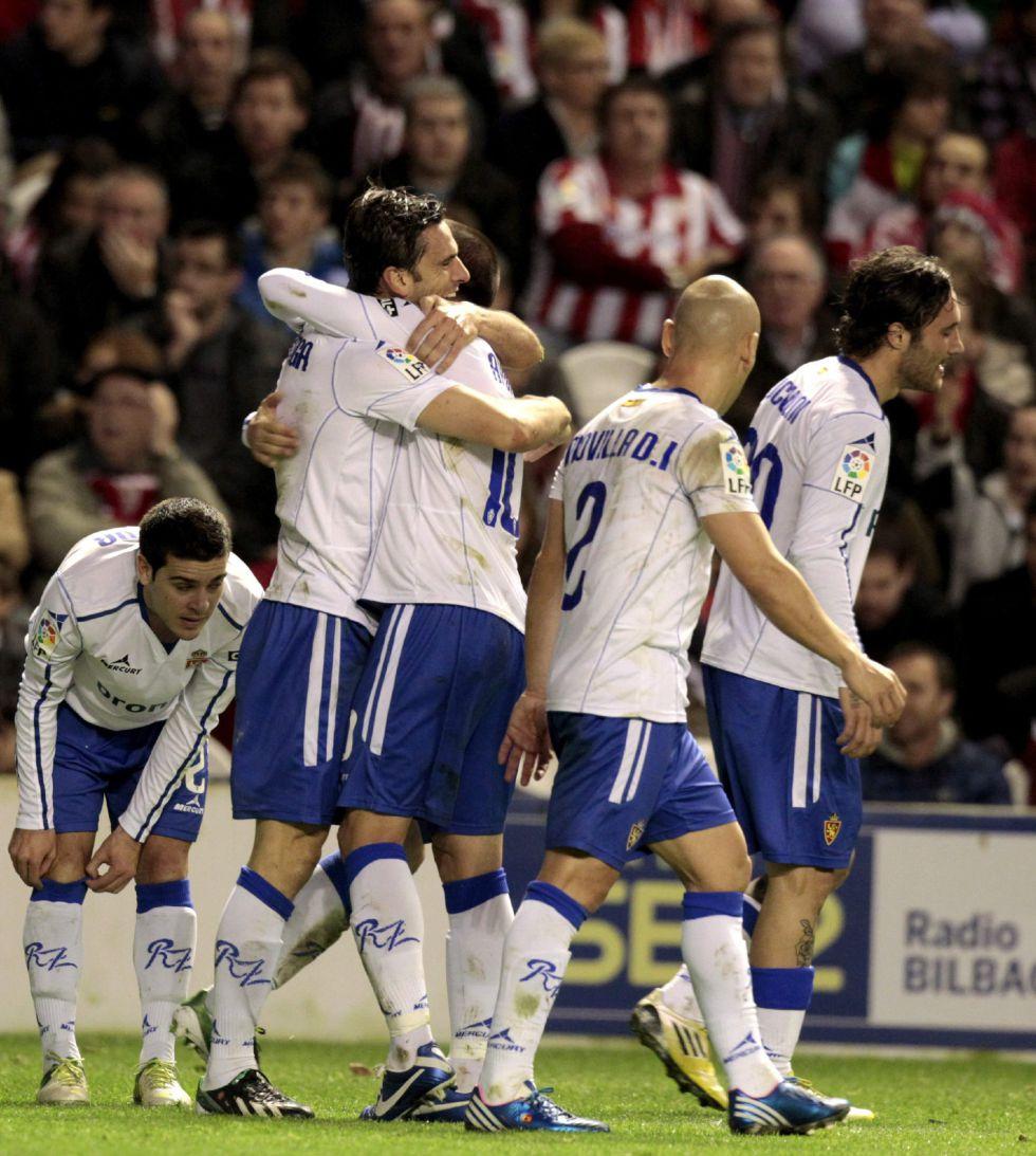 El Zaragoza somete al Athletic con una lección de entereza