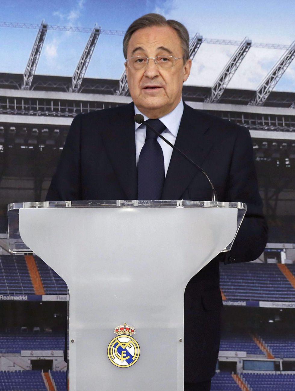 """Florentino Pérez pide """"unión"""" en el mensaje navideño del Madrid"""