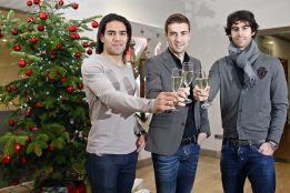 Los capitanes del Atleti felicitan la Navidad a los aficionados