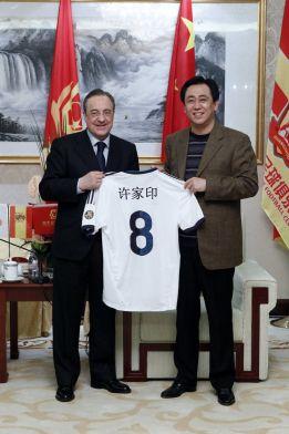 Florentino Pérez estrecha lazos entre el Real Madrid y China