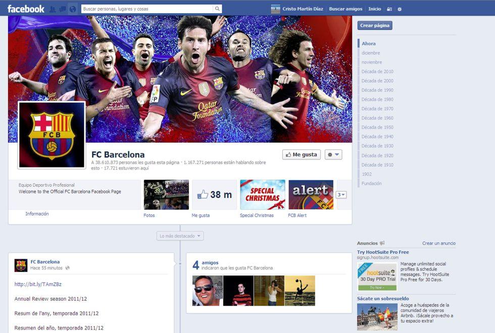 El Barça, la entidad deportiva más seguida en las redes