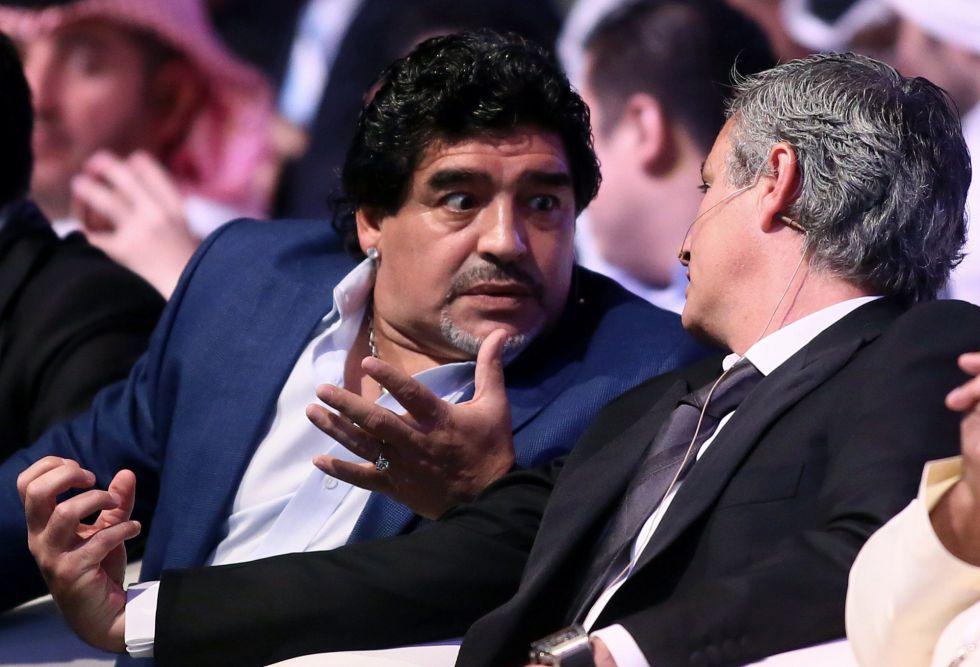 """Maradona: """"Mou es técnico top"""""""