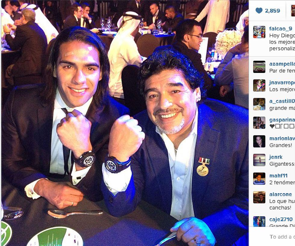 Falcao, premio Globe Soccer al mejor jugador del año 2012