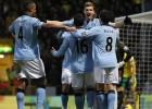 El City gana al Norwich y sigue la estela del Manchester United