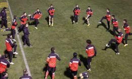El Atlético volvió a los entrenamientos sin Falcao