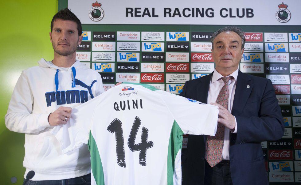 El Racing incorpora al delantero Quini procedente del Alcorcón
