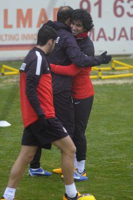 El Atlético despidió el año con un intenso entrenamiento