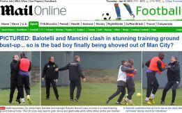 Balotelli y Mancini llegan a las manos en el entrenamiento
