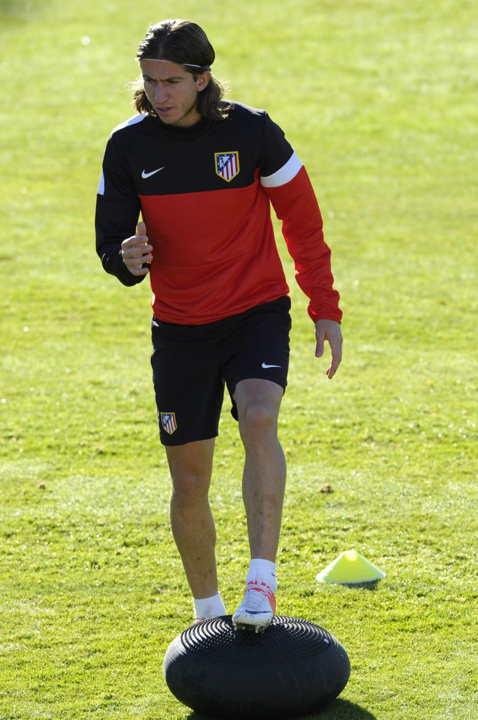 Filipe Luis se reincorpora al grupo y podrá estar en Mallorca