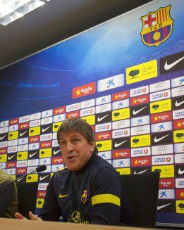 """Roura: """"Tito está fuerte y se sentará ante el Espanyol"""""""