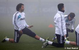 Marcelo, gran novedad en el entrenamiento del Real Madrid
