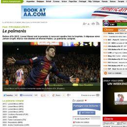 L' Equipe dio ganador a Messi