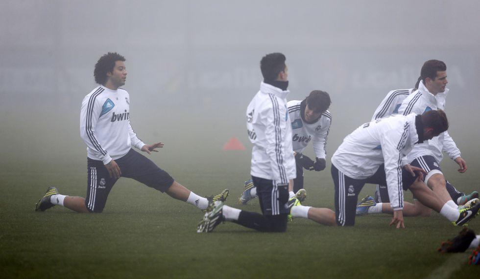 Marcelo entrenó con el grupo 87 días después de su lesión